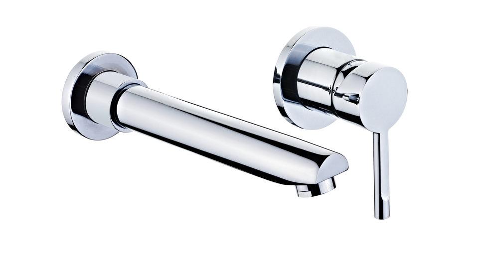 View 1 of bath tap ALAIOR XL WALL-MOUNTED WASHBASIN MIXER Chrome by Teka
