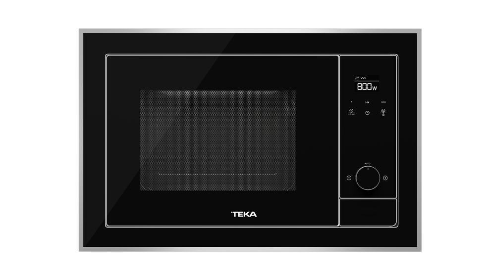 View 1 of microwave ML 820 BIS Black Glass with StainlessSteel frame by Teka
