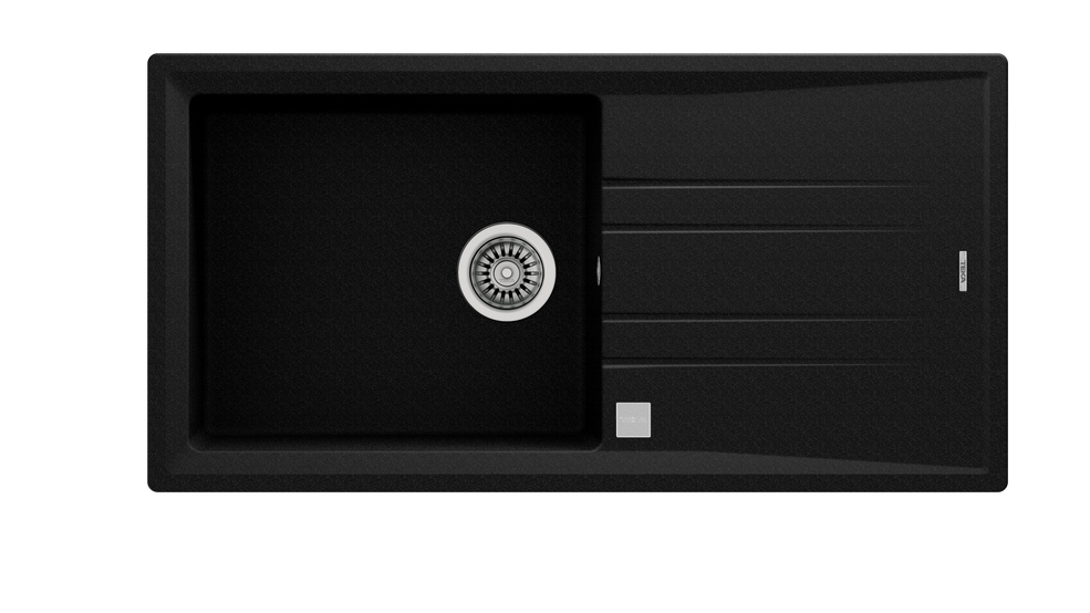 View 1 of sink STONE 60 L-TG 1B 1D AUTO Metallic Black by Teka