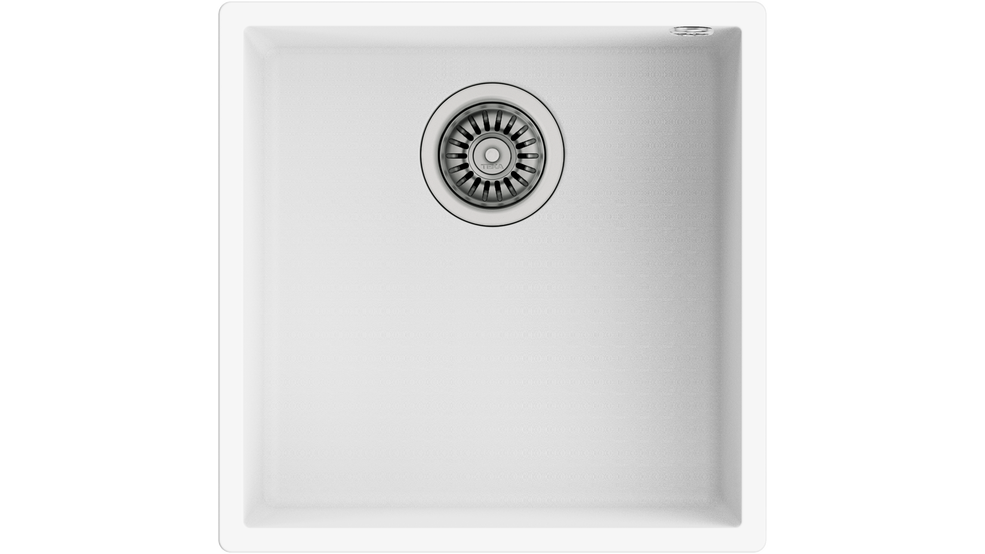 View 1 of sink SQUARE 40.40 TG Artic White by Teka