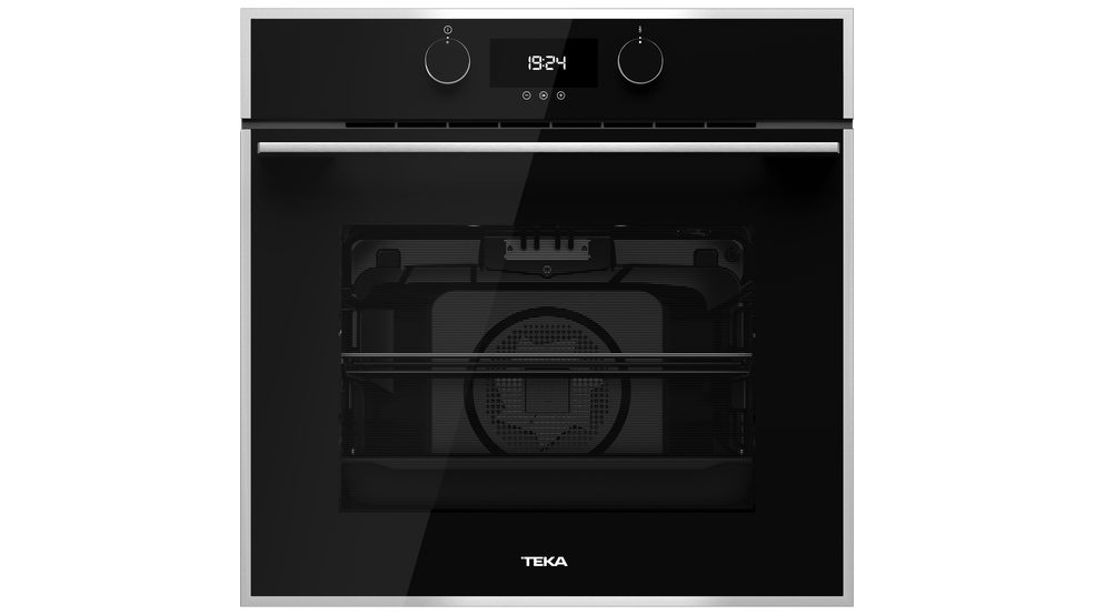 View 1 of oven HLB 840 Black Glass with StainlessSteel frame by Teka