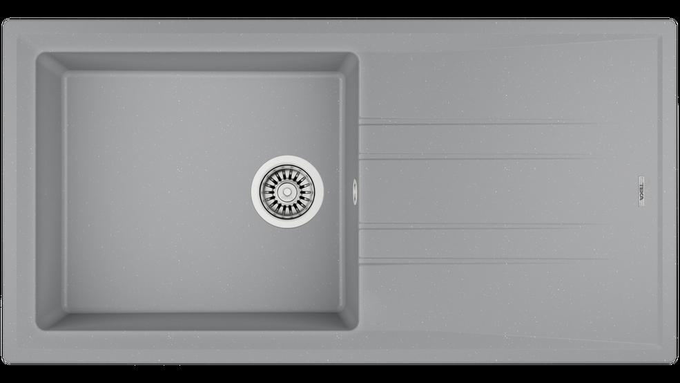 View 1 of sink STONE 60 L-TG 1B 1D Metallic Grey by Teka