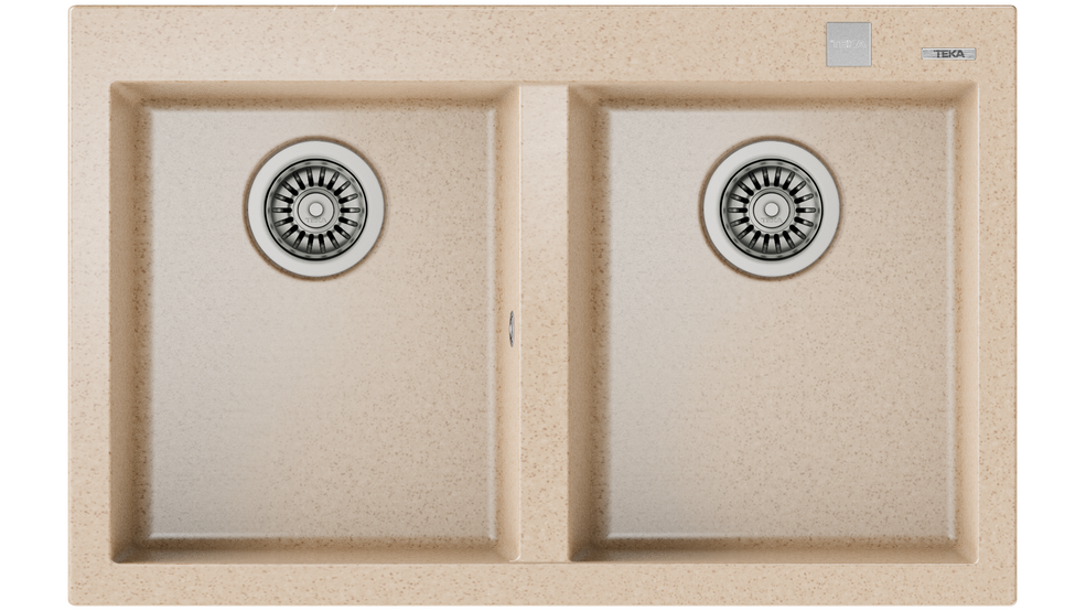 View 1 of sink FORSQUARE 2B 790 TG AUTO Avena Beige by Teka