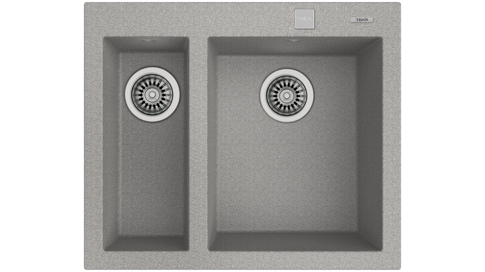 View 1 of sink FORSQUARE 2B 590 TG AUTO Stone Grey by Teka
