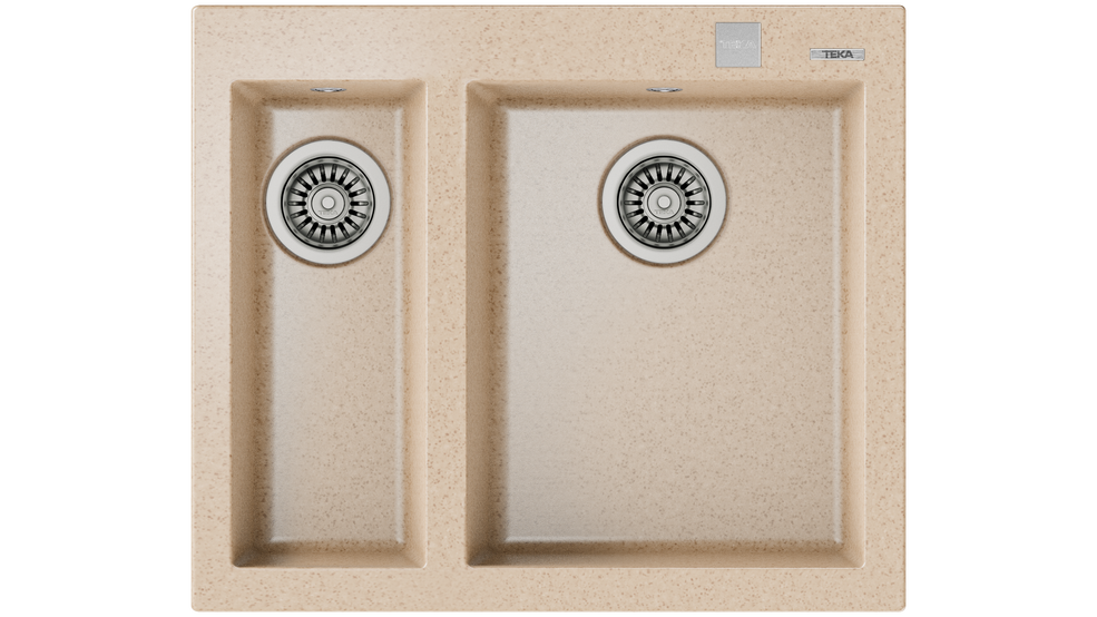 View 1 of sink FORSQUARE 2B 590 TG AUTO Avena Beige by Teka