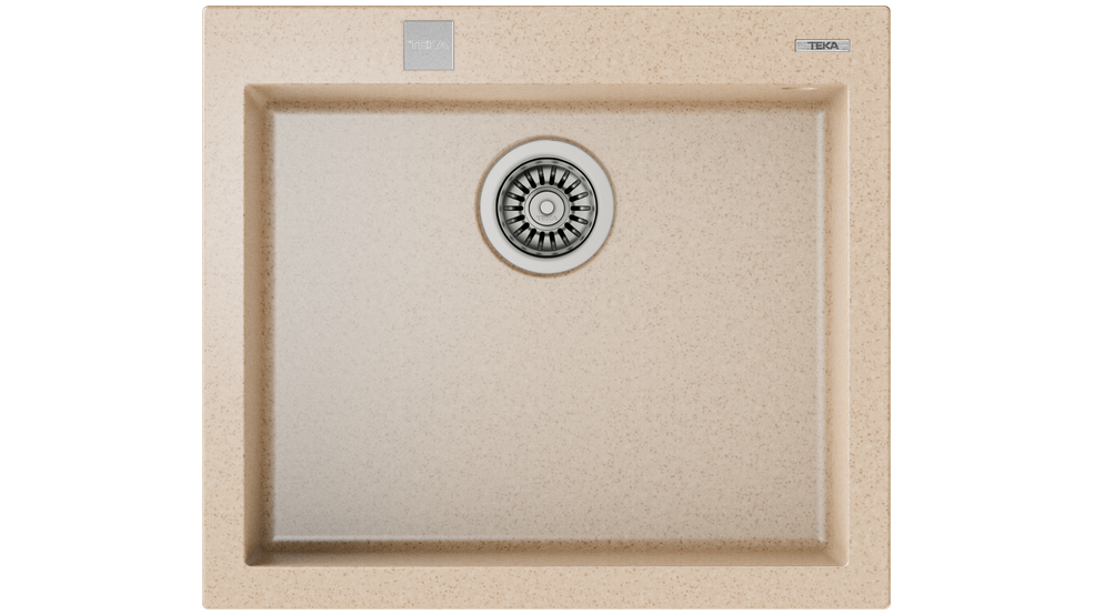View 1 of sink FORSQUARE 50.40 TG AUTO Avena Beige by Teka