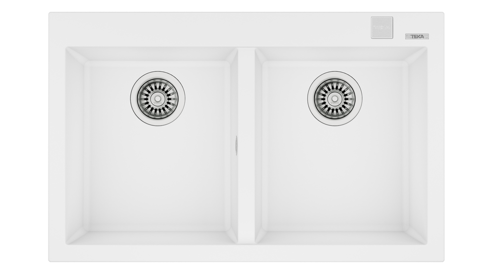View 1 of sink FORSQUARE 2B 790 TG AUTO Artic White by Teka