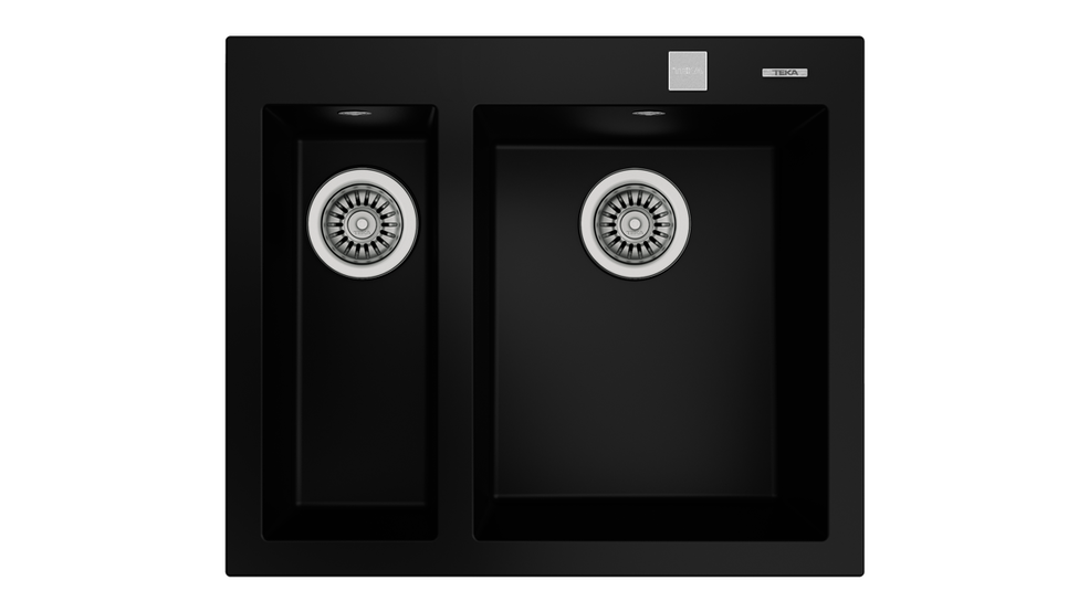 View 1 of sink FORSQUARE 2B 590 TG AUTO Black by Teka