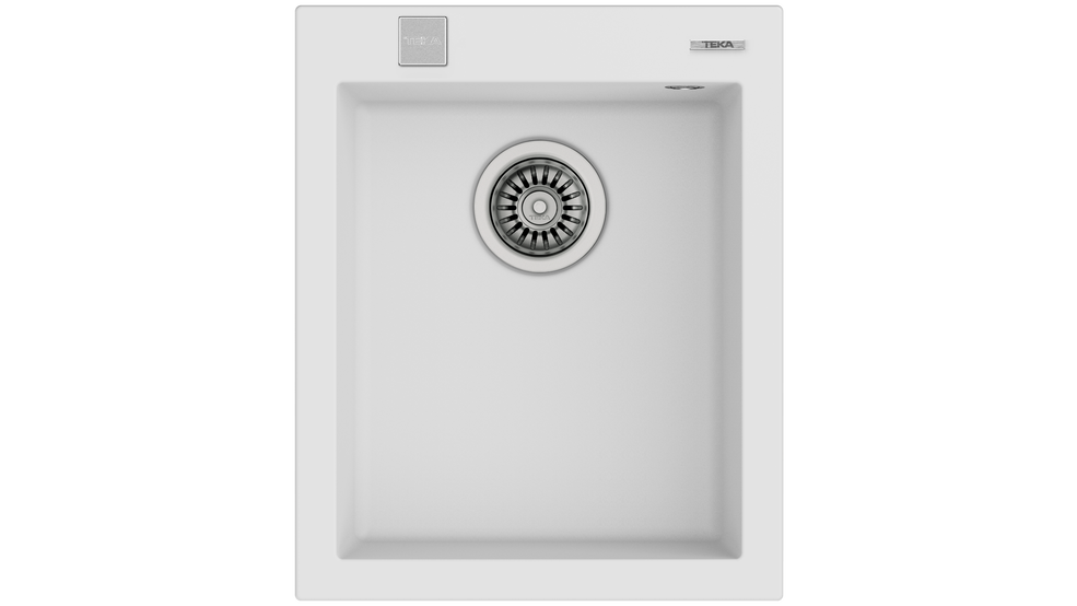 View 1 of sink FORSQUARE 34.40 TG AUTO Artic White by Teka