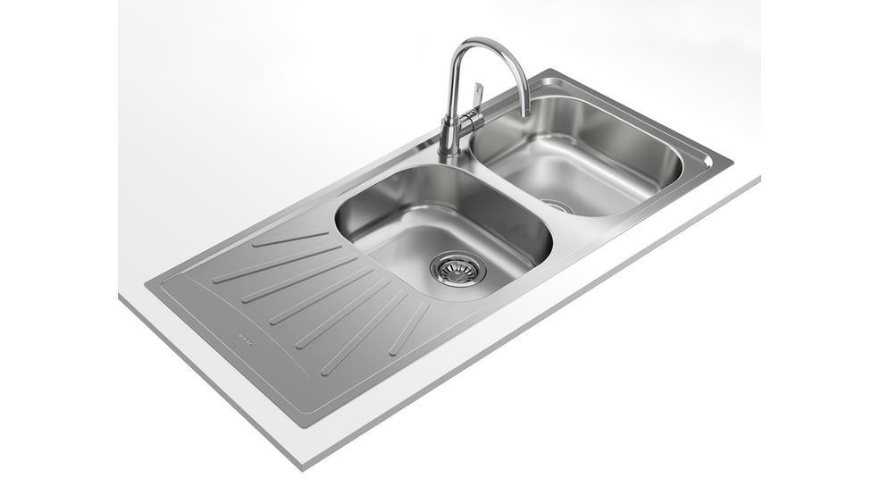 View 1 of sink StarBright 80 E-XN 2B 1D Stainless Steel by Teka