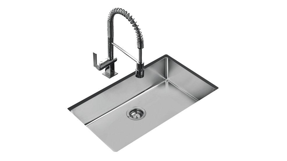 View 1 of sink BeLinea R15 2B 29.17 Polished by Teka