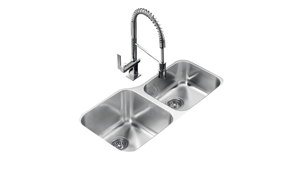 View 1 of sink TU 34.18-R OFFSET Stainless Steel by Teka