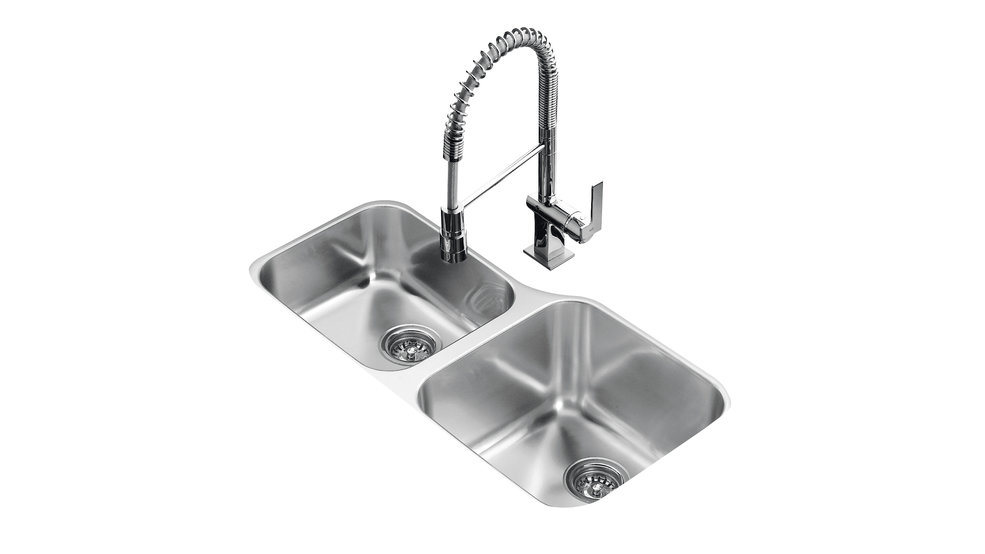 View 1 of sink TU 34.18-L OFFSET Stainless Steel by Teka