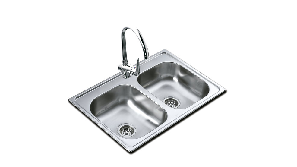 View 1 of sink 840.560 2B (33.22) 6