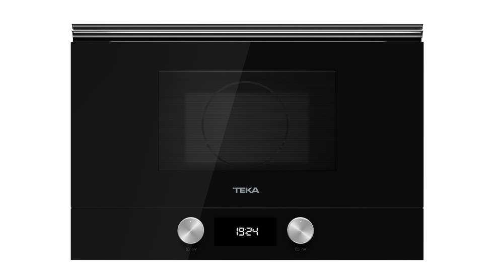 View 1 of microwave ML 8220 BIS L Black Glass by Teka