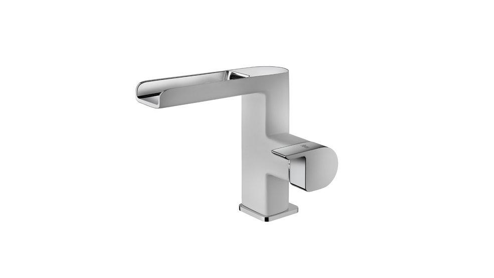 Imagen 1 de grifo de baño FORMENTERA CASCADE WASHBASIN MIXER WHITE Chrome White de Teka