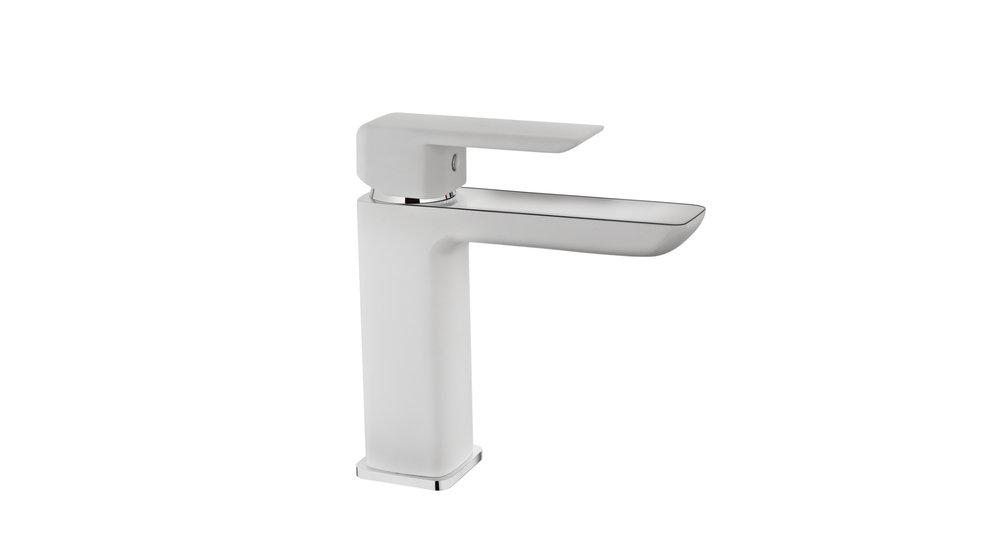 View 1 of bath tap FORMENTERA WASHBASIN MIXER WHITE Chrome White by Teka