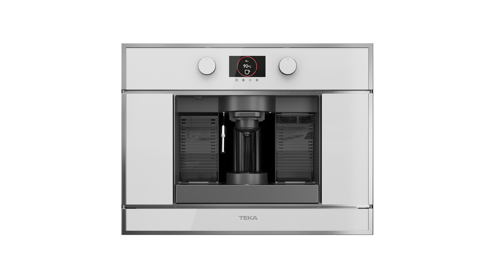 View 1 of coffee machine CLC 835 MC White Glass with StainlessSteel frame by Teka