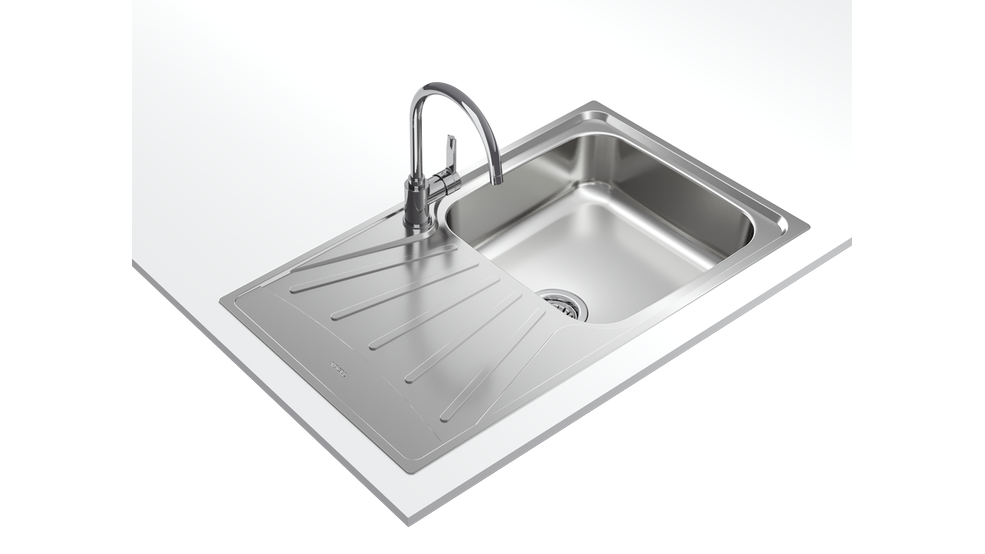View 1 of sink STARBRIGHT 50 E-XP 1B 1D Stainless Steel by Teka