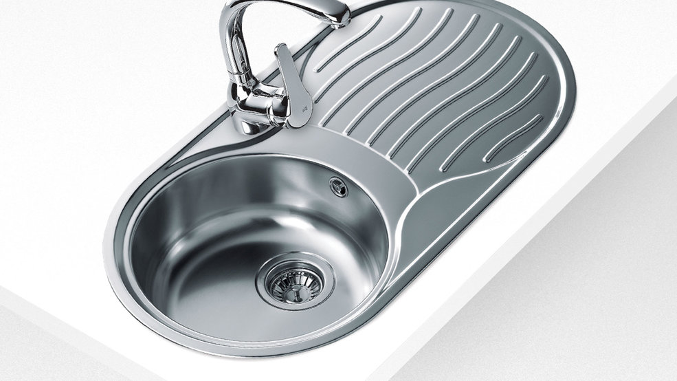 View 1 of sink DR-80 1B 1D Stainless Steel by Teka
