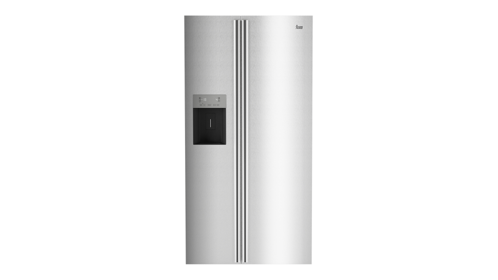 American No Frost A + refrigerator in stainless steel anti-fingerprint with ice and water dispenser.