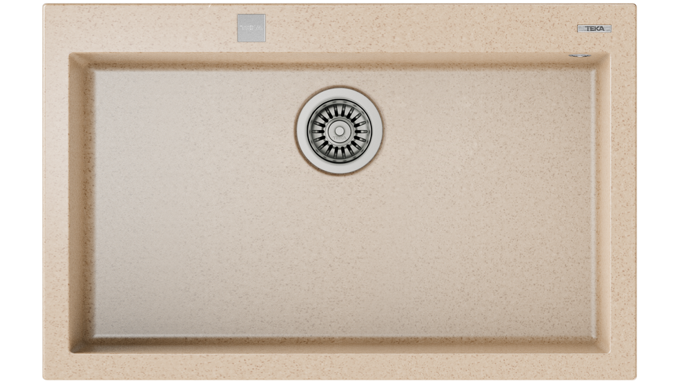 View 1 of sink FORSQUARE 72.40 TG AUTO Avena Beige by Teka