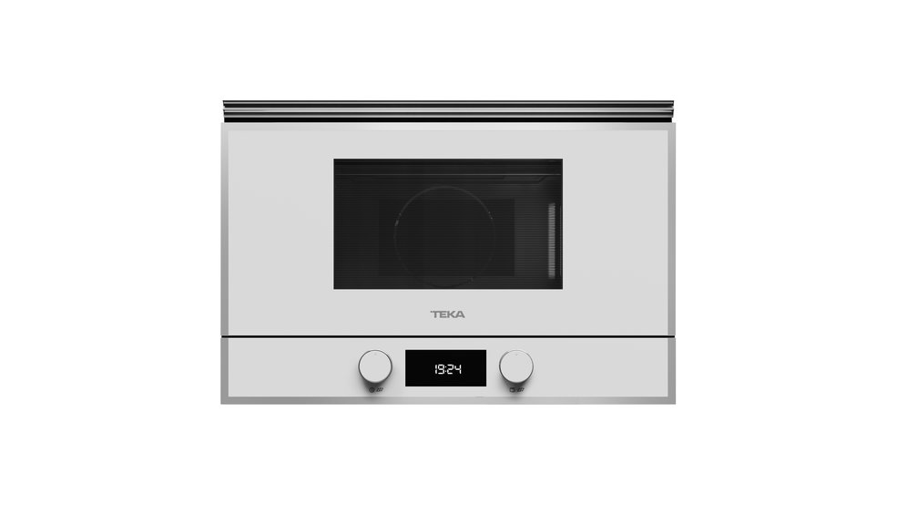 View 1 of microwave ML 822 BIS L White Glass with StainlessSteel frame by Teka