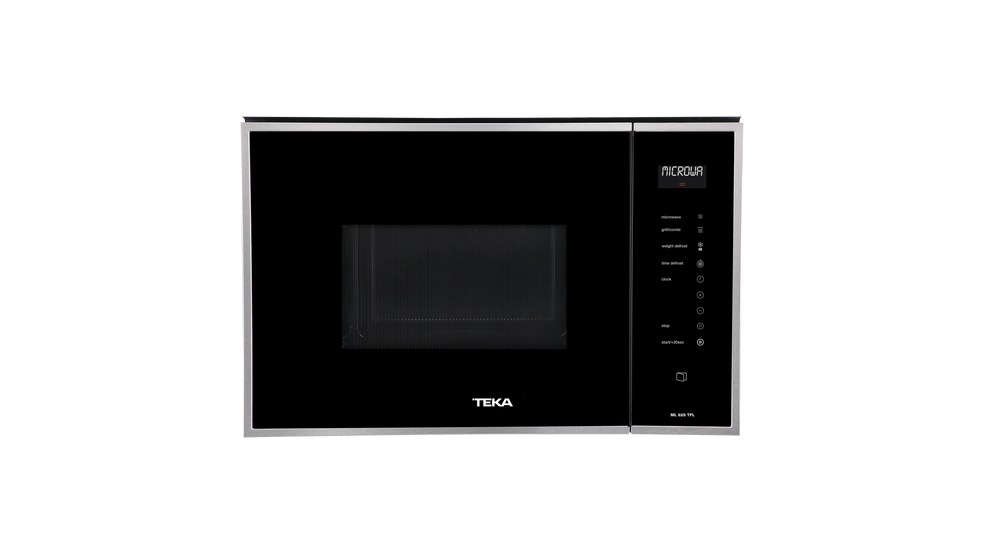 View 1 of microwave ML 825 TFL Black Glass with StainlessSteel frame by Teka