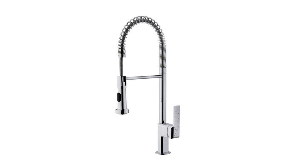 Professional kitchen mixer tap