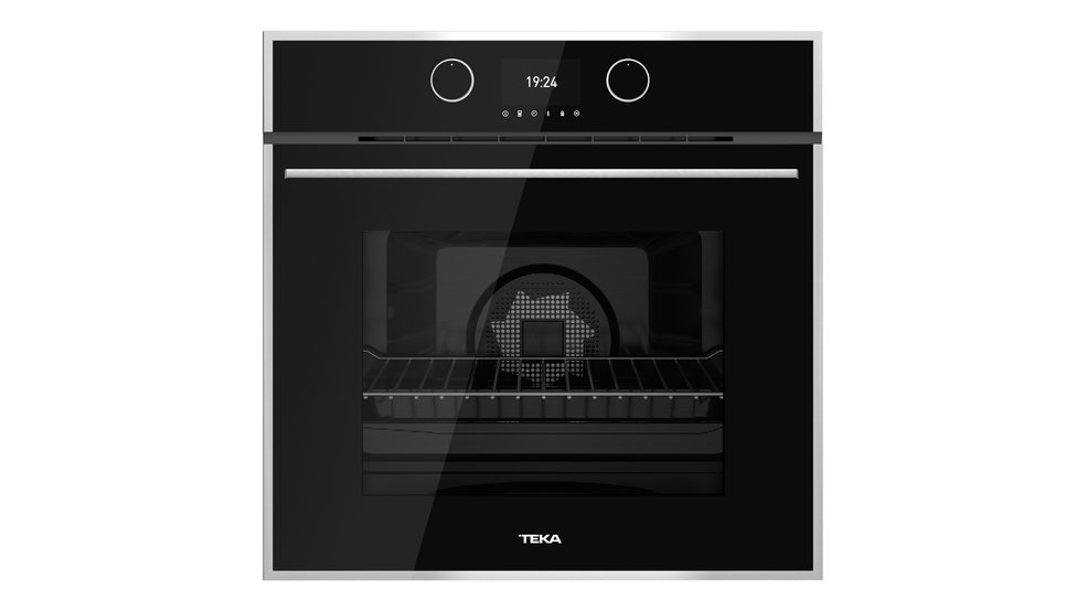 View 1 of oven HLB 860 Black Glass with StainlessSteel frame by Teka