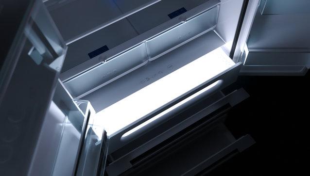Tek dokunuşla dondurucudan buzdolabına