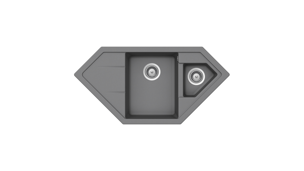 View 1 of sink ASTRAL 70 E-TG 1B 2D Metallic Grey by Teka