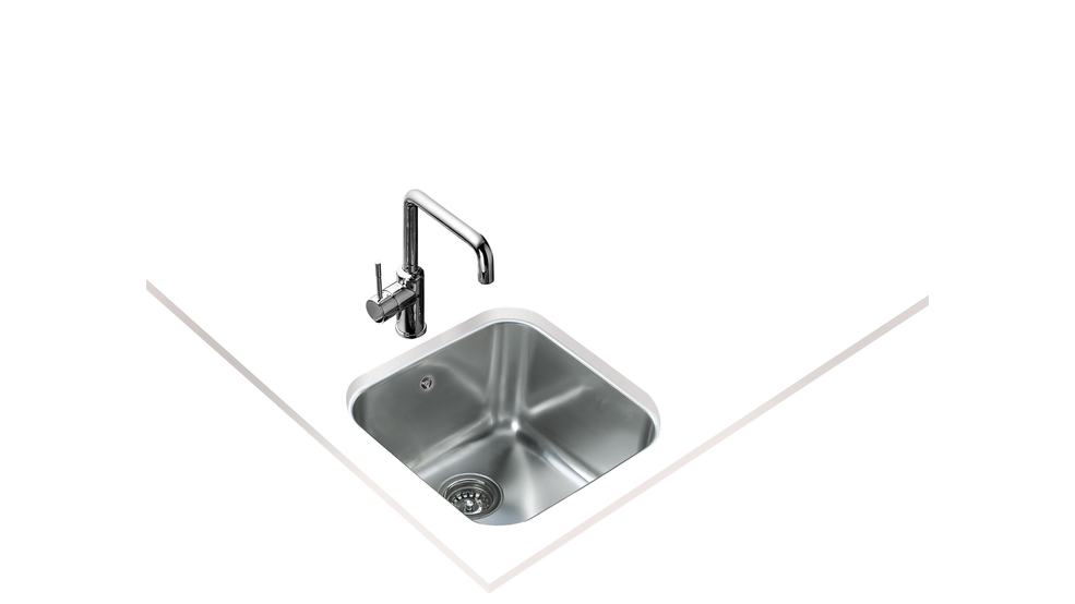 View 1 of sink BE 40.40.25 Stainless Steel by Teka