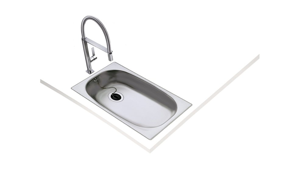 View 1 of sink MODEL E 1B Stainless Steel by Teka