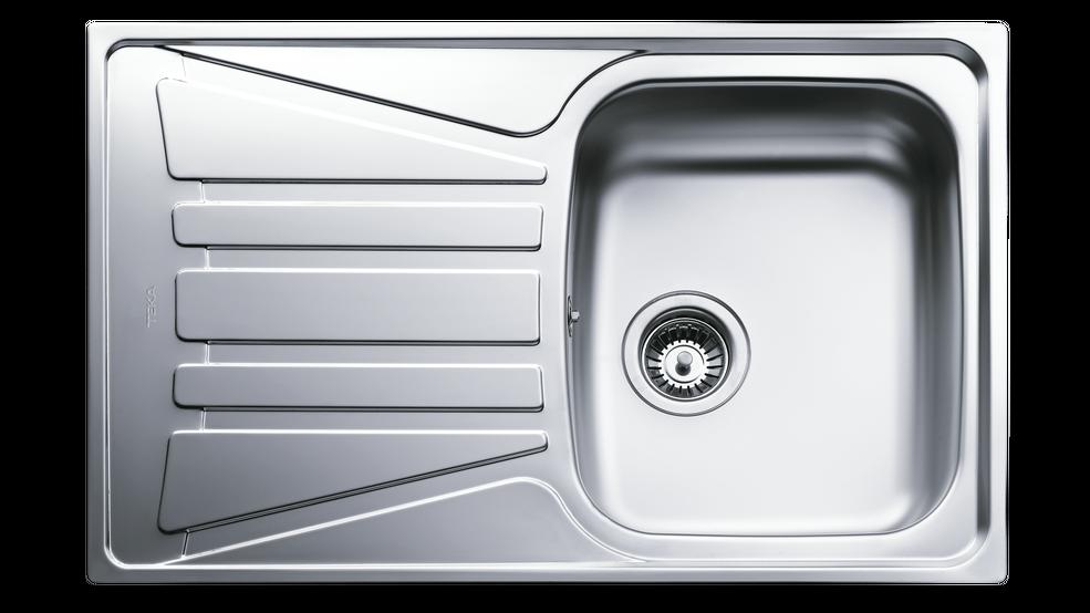 View 1 of sink Basico 86 1B 1D Matt chrome by Teka