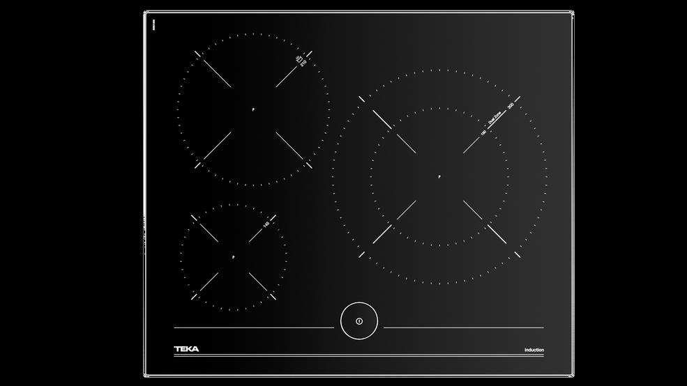 Imagen 1 de placa iKnob IT 6350 Black Glass de Teka