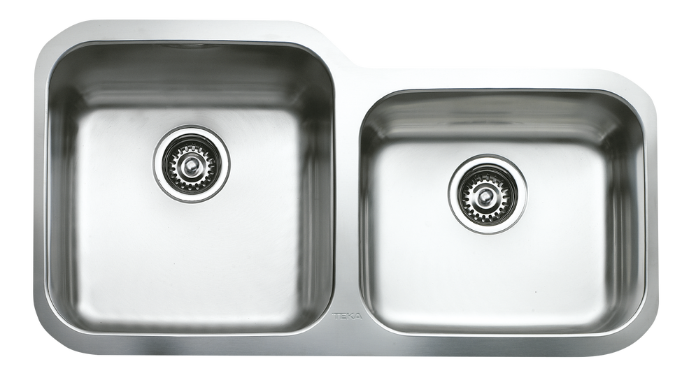 View 1 of sink BE 2B 880 R OFFSET Stainless Steel by Teka