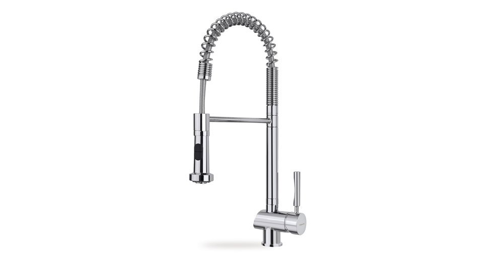 Professional kitchen faucet mixer and flexible stainless steel pipe