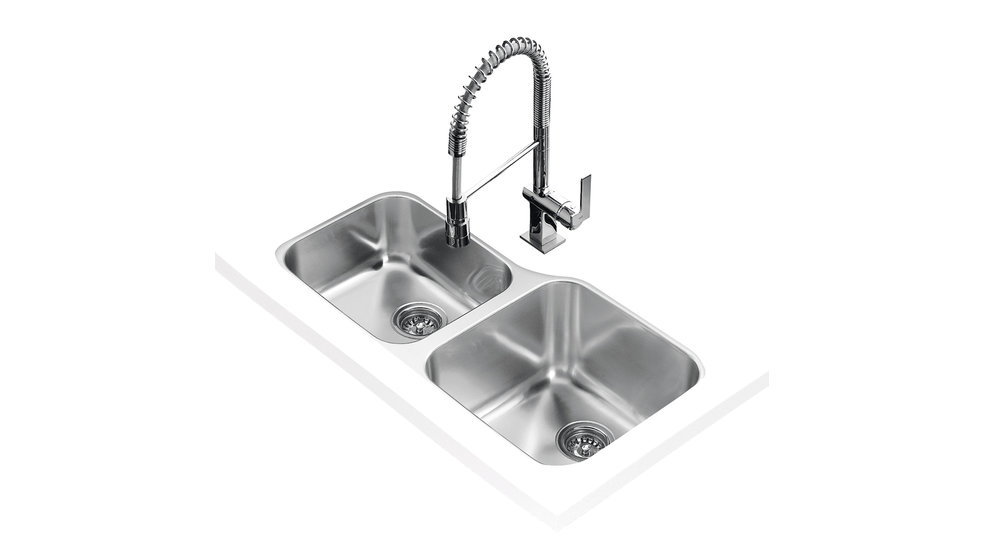 View 1 of sink BE 2B 880 L OFFSET Stainless Steel by Teka