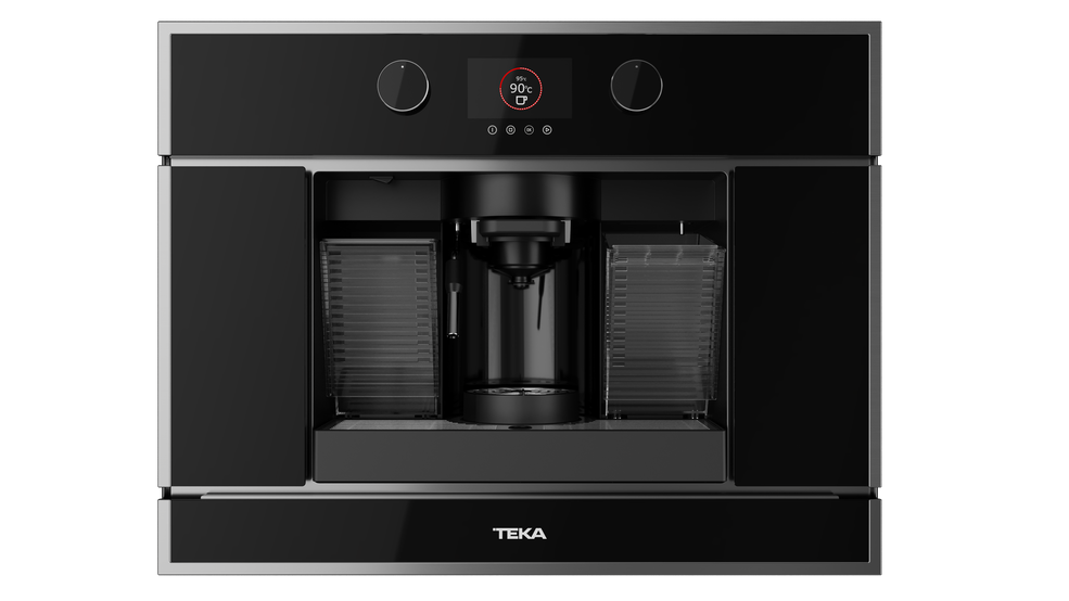 View 1 of coffee machine CLC 835 MC Black Glass with StainlessSteel frame by Teka