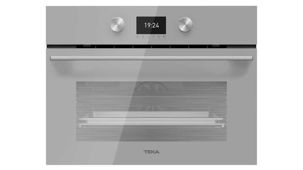 View 1 of Combi HLC 8471 SC Steam Grey Glass by Teka