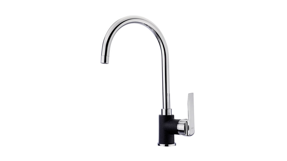 View 1 of sink tap IN 995 Metallic Black by Teka