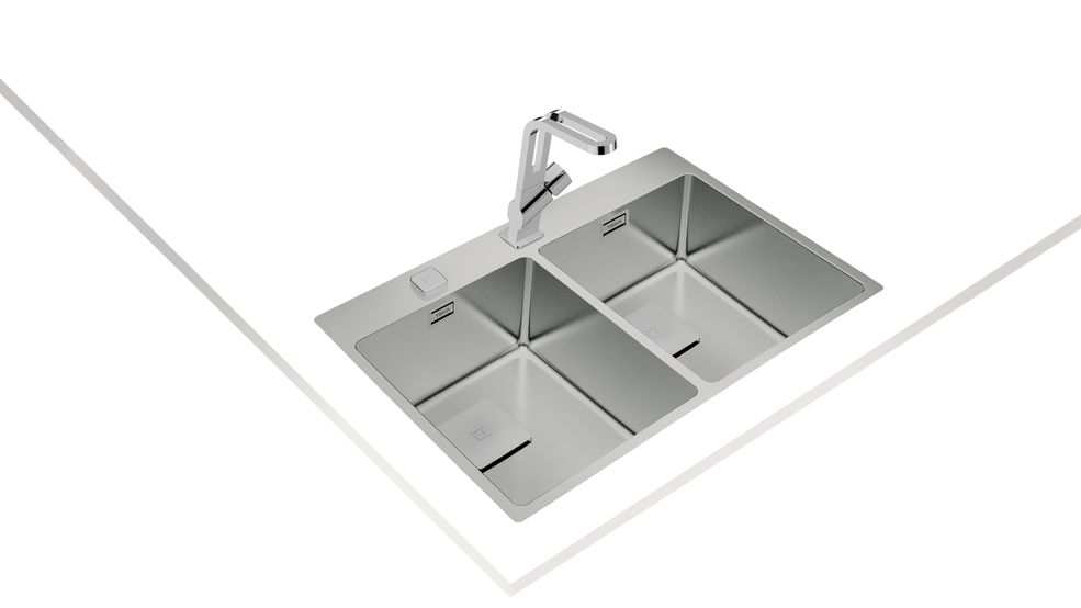View 1 of sink ForLinea RS15 2B 740 Auto Stainless Steel by Teka
