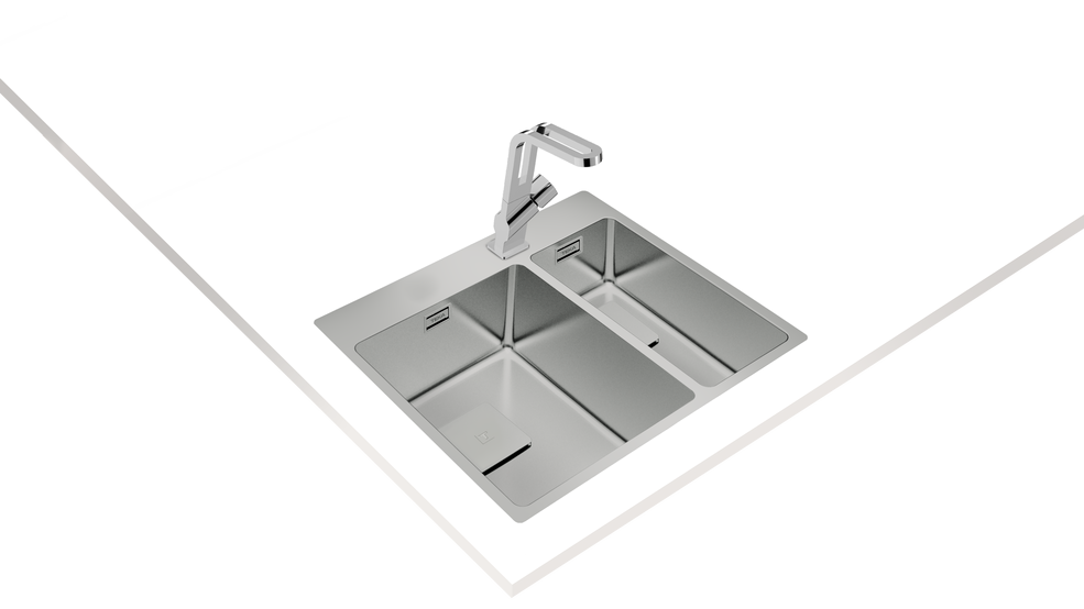 View 1 of sink ForLinea RS15 2B 580 Stainless Steel by Teka