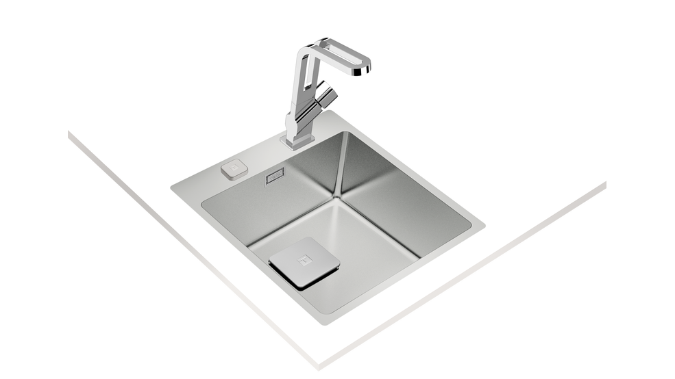 View 1 of sink ForLinea RS15 40.40 Auto Stainless Steel by Teka