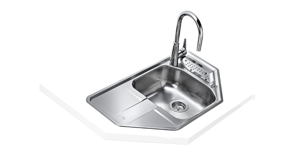 View 1 of sink STENA 45-E 1B 1D Stainless Steel by Teka