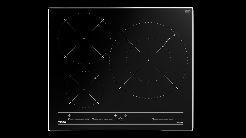 View 1 of hob ITC 63320 BK MSS Black Glass by Teka
