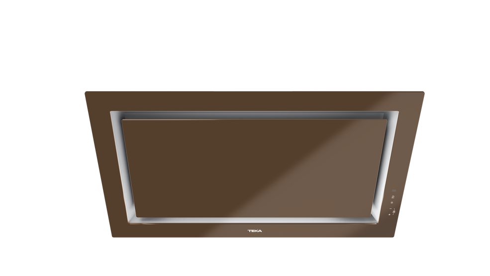 View 1 of hood DLV 98660 TOS London brick brown glass by Teka