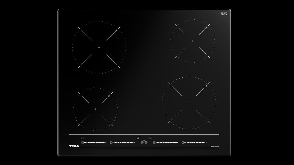 Imagen 1 de placa IBC 64010 MSS Black Glass de Teka