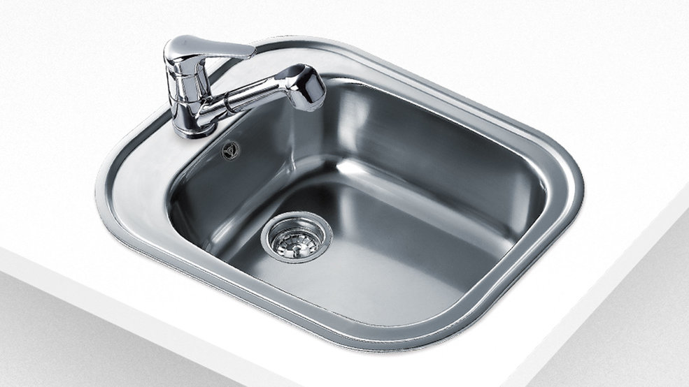 View 1 of sink STYLO 1B Stainless Steel by Teka